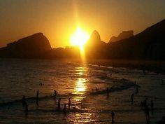 Pôr do sol visto do Costão do Leme/Copacabana RJ