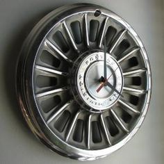 CAR RIM CLOCK. Perfect for brother or the boyfriend or crazy girls who love cars (Me).