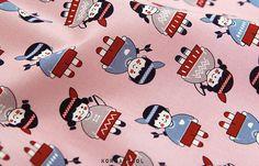 Scandinavian Fabric Scandinavian Pattern 43x35 100% by KoreaBacol