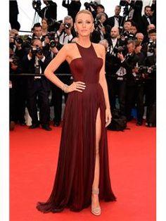 ファッションエレガントスプリットフロントのAラインイブニングドレス