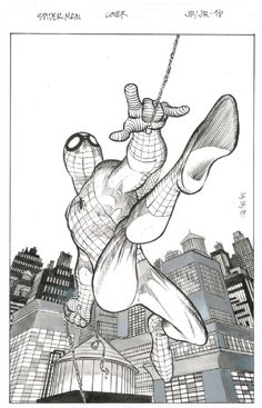 Amazing Spiderman Cover by John Romita Jr and Tom Palmer, in George Marvel Art Comic Art Gallery Room Comic Book Artists, Comic Book Characters, Comic Artist, Comic Character, Comic Books Art, Comics Spiderman, Dc Comics Art, Marvel Comics, Superhero Sketches