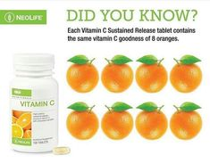 NeoLife Vitamin C ( Sustained Release) - Timed-release protection and the vitamin C power of whole oranges.Synergistic effect of vitamin C with bioflavonoids for better results. Buy at our trusted South Africa Store. Vitamin C Supplement, Vitamin C Benefits, Aloe Vera, Natural Health, Health And Wellness, Fruit, Healthy, Africa, Packaging