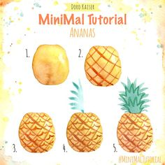 MiniMal Tutorial Malidee for den Summer a focus guidance like du with watercolors an pineapple mal can MiniMal Tutorial Malidee for the summer a short guide on how to paint a pineapple with watercolor paints Art Painting Tools, Watercolor Painting Techniques, Watercolour Tutorials, Acrylic Painting Canvas, Watercolor Paintings, Acrylic Art, Watercolors, Watercolor Sunset, Easy Watercolor