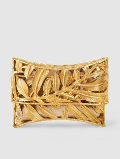 Iraya Leaf Brass Clutch | Aranaz