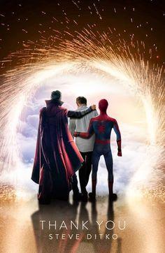 Spider-Man - Thank you, Steve Ditko Marvel Dc, Marvel Comics, Avengers Series, Marvel Series, Stan Lee, Movie Rewards, Steve Ditko, Best Superhero, Pokemon
