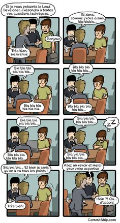 Like a coder on a meeting with a client   CommitStrip - Blog relating the daily life of web agencies developers