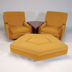 Two Borenstein Chairs and Side Table, July 6 at Michaan's Auctions #midcenturymodern #furniture #michaans http://www.michaans.com/events/2013/auct_07062013.php