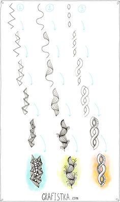 """Как нарисовать узоры """"веревочками"""" для Дудл, 19"""