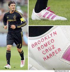 David Beckham NAMES Shoe After His Kids