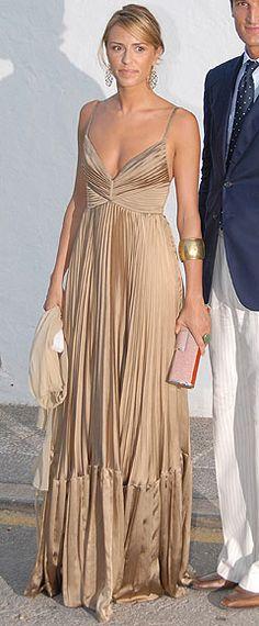 Loewe gold dress