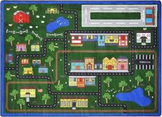 Joy Carpets Tiny Town Kids Playroom Rug x Kids Playroom Rugs, Kids Room, Playroom Ideas, Classroom Carpets, Carpets For Kids, Cool Rugs, Oriental Trading, Mold And Mildew, John Lewis