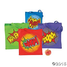 Superhero party cracker kit great alternative to a party bag large superhero tote bags solutioingenieria Gallery