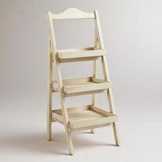Whitewashed Chloe Storage Shelf. For the main level bathroom? See more ideas at worldmarket.com
