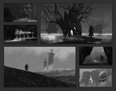 Composition Sketches Vol. 2, Eytan Zana on ArtStation at https://www.artstation.com/artwork/composition-sketches-vol-2