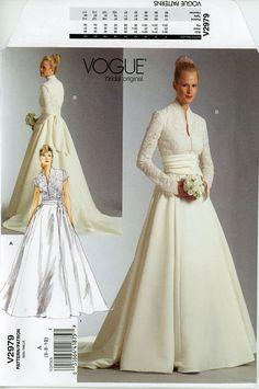 Grace Kelly Wedding Dress Pattern Vogue V2979 by CynicalGirl