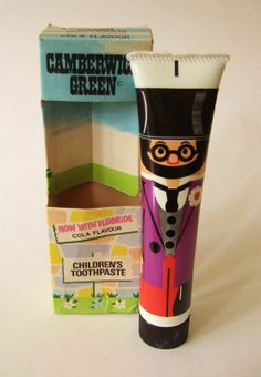 Curious Objects: As Recommended by a Doctor  Camberwick Green toothpaste! I remember this. It was vaguely chalky if I recall.