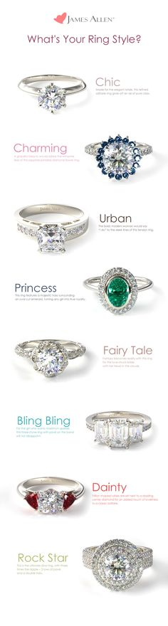 Solitaire Engagement Ring l Gemstone Engagement Ring l Three-Stone Engagement Ring l Double Halo Engagement Ring l Diamond Ring l James Allen