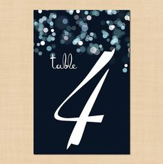 Sparkly Stars Table Numbers (1-10) - 4 x 6 - Instant Download on Etsy, $16.00