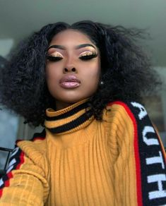 black women's makeup tips Makeup On Fleek, Flawless Makeup, Cute Makeup, Glam Makeup, Pretty Makeup, Beauty Makeup, Makeup Looks, Hair Makeup, Hair Beauty