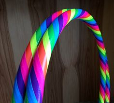 UV reactive Pink Rainbow collapsible travel hula hoop by HoopBunny - https://www.etsy.com/listing/238953428/pink-rainbow-collapsible-hula-hoop