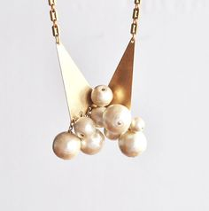Cotton pearls necklace