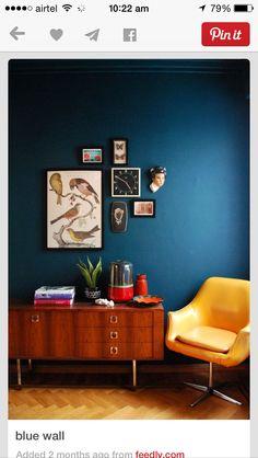 Blue wall, mycolors, the birds