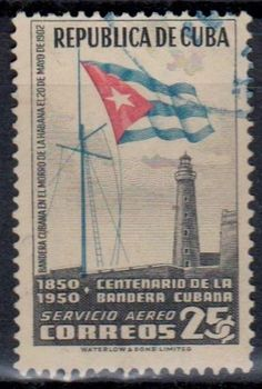 Cuba - Airmail Stamp Commemorating the Centenary of the Cuban Flag 1850 - 1950.