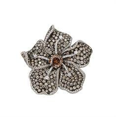 Margherita Burgener colored diamond and diamond brooch