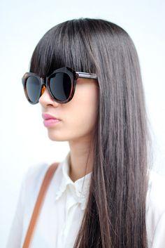 Unisex Unique Sunglasses Dark Brown