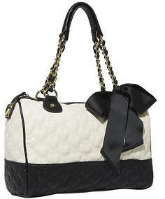 Betsy Johnson Handbags Betsey Handbag One And Only Multi Satchel Cream Purse