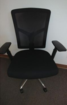Multi-Function Office Chair Black Mesh Back Black Fabric Seat Chrome Base Great desk chair or conference chair! Black Office Chair, Conference Chairs, Desk Chair, Black Fabric, Furniture, Products, Home Decor, Home Furnishings, Interior Design