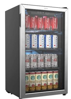 3.3 Cubic Foot Danby DAR033A6BSLDB-6 Contemporary Classic Mini Fridge Stainless Look