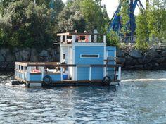 Floating Sauna in Tampere Sauna Ideas, Shanty Boat, Floating Homes, Finnish Sauna, Hotels, Boat House, Houseboats, Restaurant, Marimekko