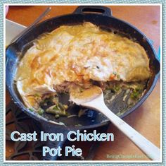 Fancy fake out meal.and a one pot meal! Can't beat that! Cast Iron Skillet Cooking, Skillet Meals, Skillet Recipes, One Pot Meals, Main Meals, Cast Iron Chicken, Cheap Easy Meals, Cast Iron Recipes, Casserole Recipes