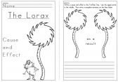 Freebie! Lorax Cause and Effect
