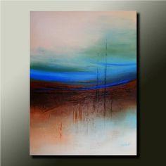Original ABSTRACT Modern Landscape PAINTING Contemporary Fine Art by Idil Kamlik