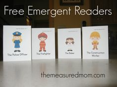 Print these free emergent readers to teach your beginning reader at home or after school.  Bright and fun!