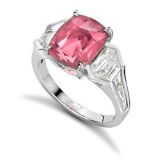Pink Tourmaline and diamond ring http://www.rudells.com/