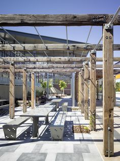 Arbour elements at Noosa Transit Centre - supplied by Kennedy's timbers