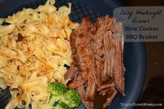 Easy Weeknight Meal: Slow Cooker BBQ Brisket Recipe (from Food Network Mag) | TripleThreatMommy.com