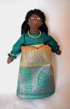 African American Doll in Fancy Dress - Art Doll - Toy Doll
