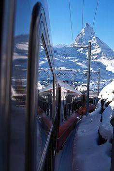 CH Gornergratbahn The Matterhorn Railway, Canton of Valais, Switzerland