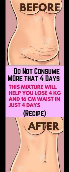 Do Not Consume It More Than 4 Days: This Mixture Will Help You Lose 4 KG And 16 CM Waist In Just 4 Days – Recipe !