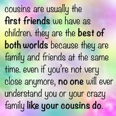 Best Cute Funny Cousin Quotes And Sayings Family Quotes Cousin