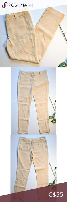 """Wilfred Aritzia silk trim dress pant size 6 Very good pre-owned condition with light signs of normal wear. There is a tiny dark spot on the front of the pants (pictured). Otherwise nothing to note. Light blush colour. Measurements 15.5"""" waist / 28"""" inseam / 6"""" leg opening / 9.5"""" rise Aritzia Pants & Jumpsuits Trousers Tuxedo Pants, Crop Dress, Tapered Trousers, Plus Fashion, Fashion Tips, Fashion Trends, Blue Pants, Flare Dress, Jumpsuits"""