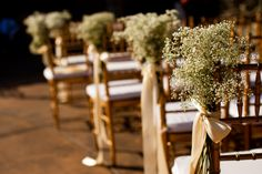 Baby's breath along aisle...maybe with pink ribbon?