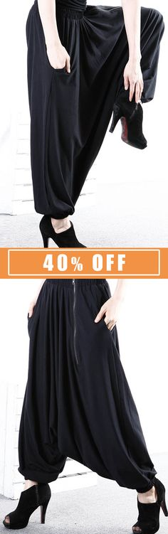 S-5XL Casual Women Zipper Harem Pants.  #women #pants #2018