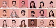 spanish artist angelica dass has conceived 'humanae'. the project applies the alphanumerical classification of the pantone coloring   system to human skin tone, communicated through a photographed portraiture series. the background of each piece is dyed the   exact shade extracted from a sample of 11 x 11 pixels from the very face of the people depicted, with the ultimate aim being to record   and catalog, through a scientific measurement, all possible complexions.