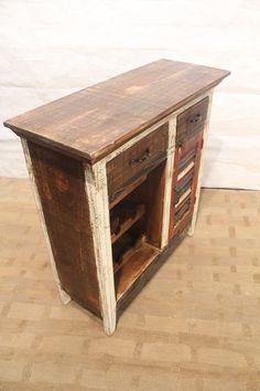 Reclaimed wood Wine Cabinet Bar with Wine door FurnitureForLife1