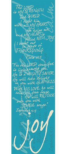 Joy Scarf - Psalm 28:7 and Zephaniah 3:17